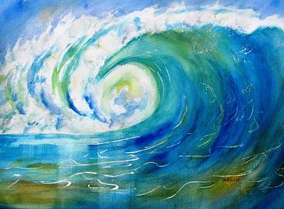 Barrel Painting - Ocean Wave by Carlin Blahnik