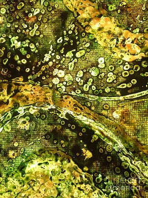 Tapestries Textiles Photograph - Ocean Waves Citrine Layer 002 by Lori Russell
