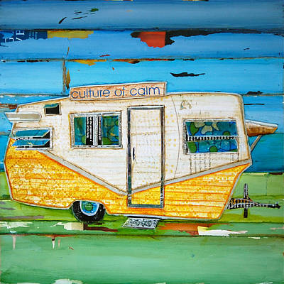 Trailer Mixed Media - Oceanfront Property by Danny Phillips