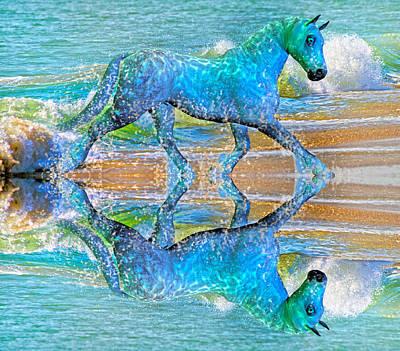 Horse Mixed Media - Oceans by Betsy C Knapp