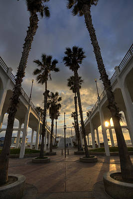 Oceanside Pier Entrance Print by Peter Tellone