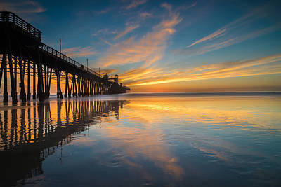 Oceanside Reflections 2 Print by Larry Marshall