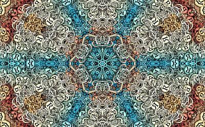 Kaleidoscope Digital Art - Oceanus S01-08 by Variance Collections