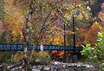 Ocoee River Bridge Print by Debra and Dave Vanderlaan