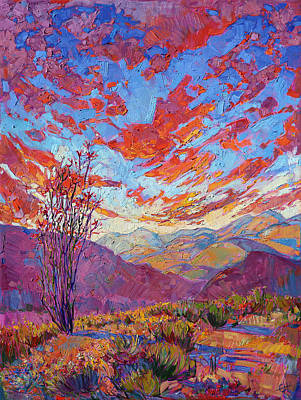 Painting - Ocotillo Sky by Erin Hanson
