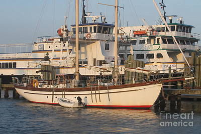 Giclee Photograph - Ocracoke Boats 2 by Cathy Lindsey