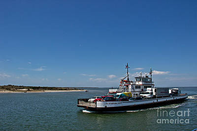 Automobile Photograph - Ocracoke - Hatteras Ferry by Tom Gari Gallery-Three-Photography