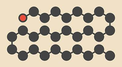 Octacosanol Plant Wax Component Molecule Print by Molekuul