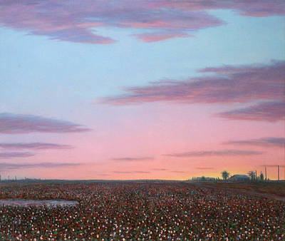 October Painting - October Cotton by James W Johnson