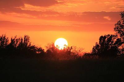 October East Texas Sunset Print by Lorri Crossno