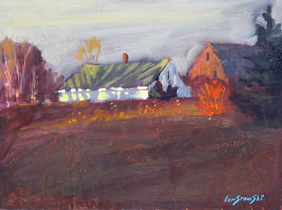 Farm And Barns Painting - October Heat by Len Stomski
