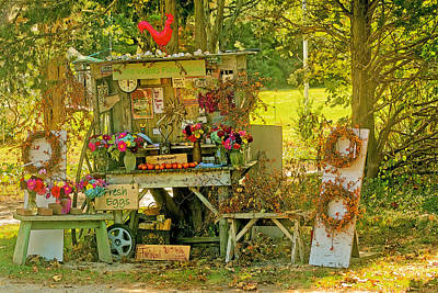 Farm Stand Photograph - October Is Bittersweet Time On Cape Cod by Constantine Gregory