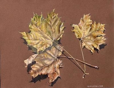 October Leaves Print by Gina Gahagan