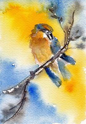 Yellow Beak Painting - October Second by Anne Duke