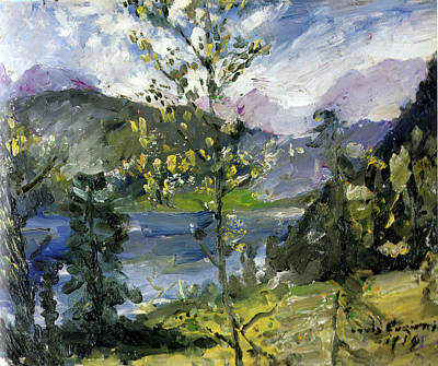 Lovis Corinth Painting - October Snow At The Walchensee by Lovis Corinth