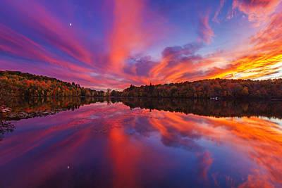 Jacques Photograph - October Sunset by Mircea Costina Photography