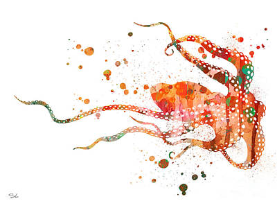 Octopus Painting - Octopus 2 by Luke and Slavi