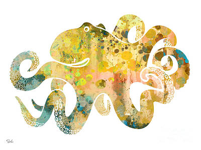 Octopus Painting - Octopus 4 by Luke and Slavi