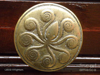 Octopus Door Knob Print by Lainie Wrightson