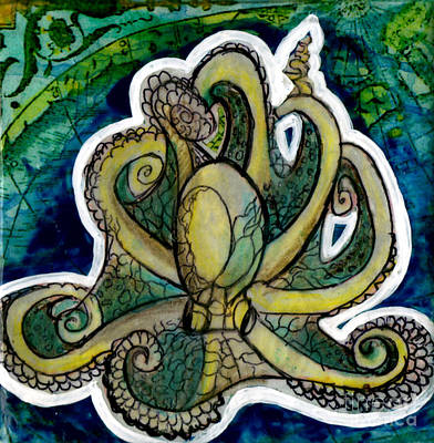 Decoupage Painting - Octopus by Genevieve Esson