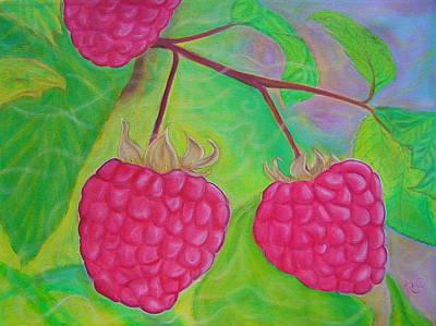 Ode To A Raspberry Original by Rachel Cruse