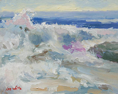 Incoming Tide Painting - Ode To Joy Color Study by Joe White