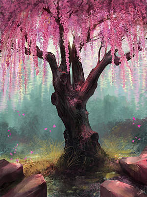 Asian Digital Art - Ode To Spring by Steve Goad