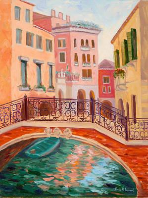 Ode To Venice Print by Karin  Leonard
