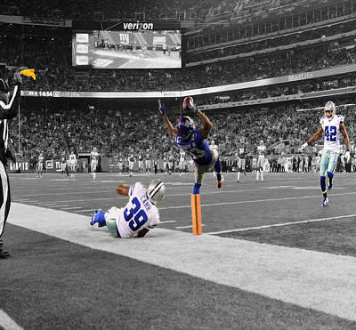 Odell Beckham Breaking The Internet Print by Brian Reaves