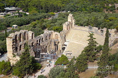 Theater Photograph - Odeon Of Herodes Atticus  by George Atsametakis