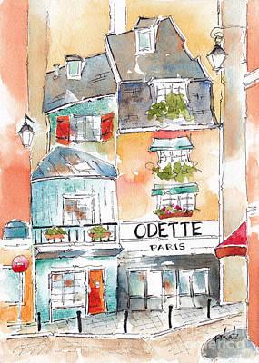 Odette On Rue Galande Paris Print by Pat Katz