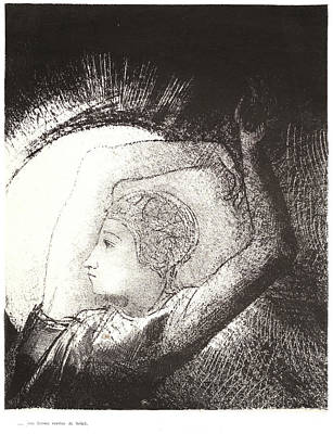 Odilon Redon French, 1840 - 1916. A Woman Clothed Print by Litz Collection