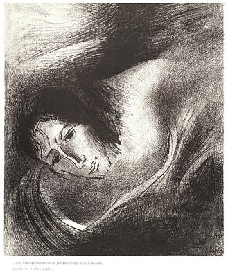 Odilon Redon French, 1840 - 1916. And The Devil That Print by Litz Collection