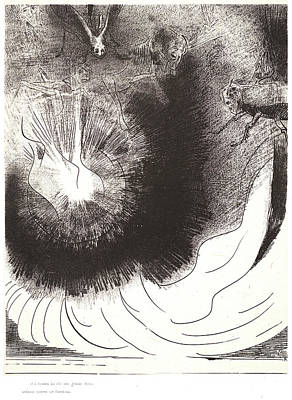 Odilon Redon French, 1840 - 1916. And There Fell A Great Print by Litz Collection