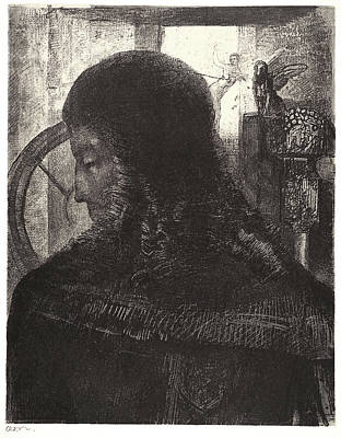 Odilon Redon French, 1840 - 1916. Old Knight Vieux Chevalier Print by Litz Collection