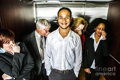 Odor In The Elevator Print by Diane Diederich