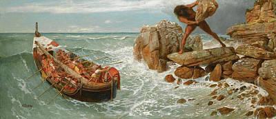 Arnold Boecklin Painting - Odysseus And Polyphemus by Arnold Boecklin
