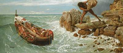 P.d Painting - Odysseus And Polyphemus by Pg Reproductions