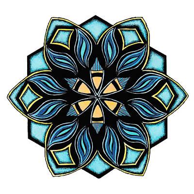 Mandala Drawing - Oe Doodle 1a by Sherri Odegaarden
