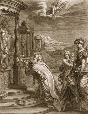 Oeneus, King Of Calydon, Having Print by Bernard Picart