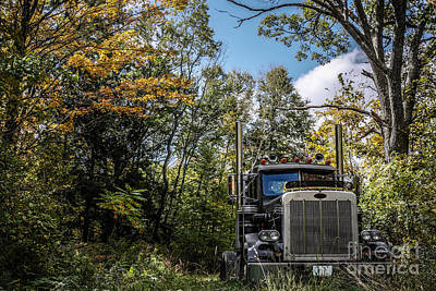 Fall Foliage Photograph - Off Road Trucker by Edward Fielding