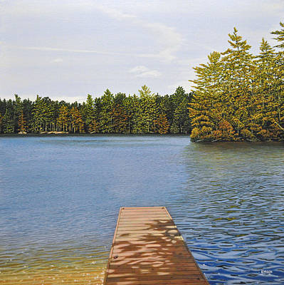Off The Dock Print by Kenneth M  Kirsch