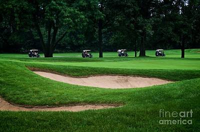 Off To Golf We Go Print by Frank J Casella