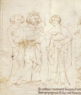 Offa And The Master Mason Print by British Library