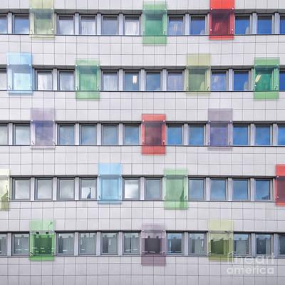 Helsingborg Photograph - Office Block Background by Antony McAulay