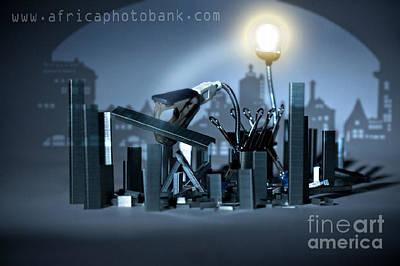 Coman Photograph - Office Dragon by Lucian Coman