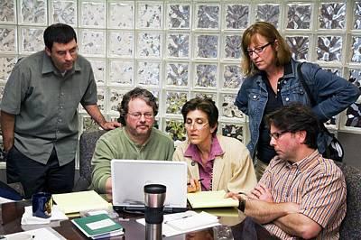 Office Meeting Print by Jim West