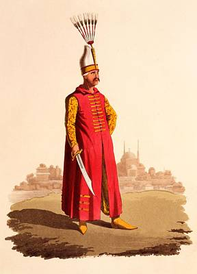 Clothes Clothing Drawing - Officer Of The Janissaries, From The by Thomas Charles Wageman