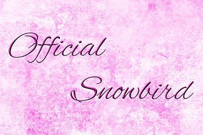 Senior Digital Art - Official Snowbird 2 by Andee Design