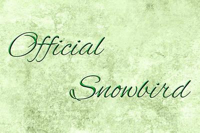 Senior Digital Art - Official Snowbird 5 by Andee Design